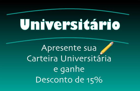 Universitário Ganha 15% Desconto